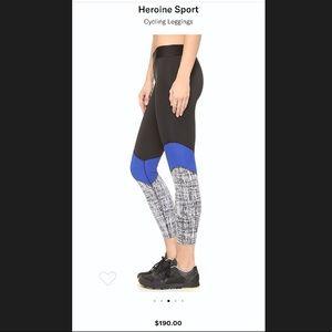 Heroine Sport Black and Blue Cycling Leggings XS